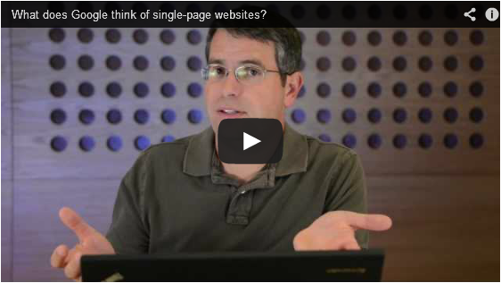 What does Google think of single-page websites?