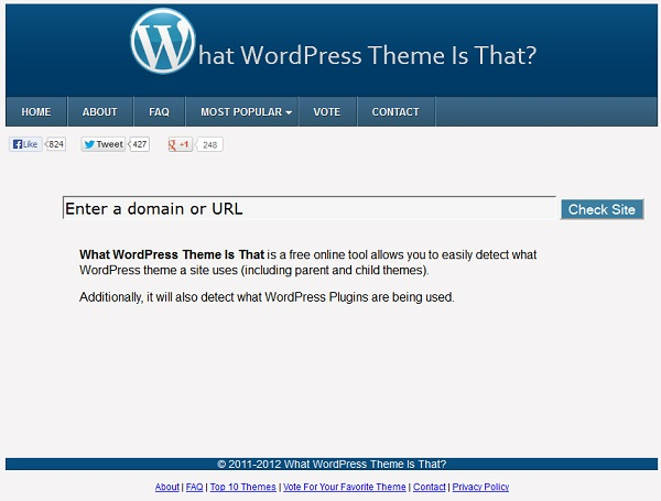 What WordPress Theme Is He Using?